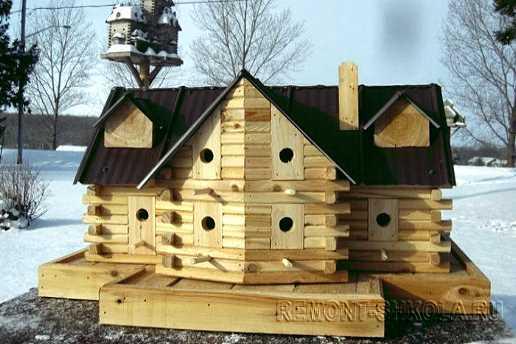 Многоквартирный деревянный скворечник - таунхаус