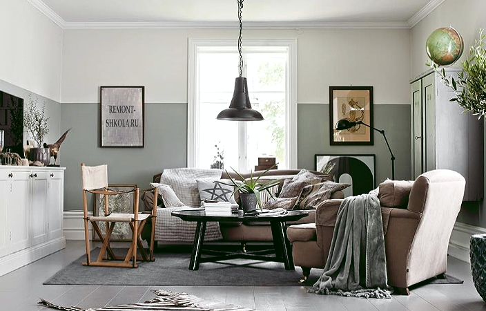 Освещение в комнате со скандинавским дизайном