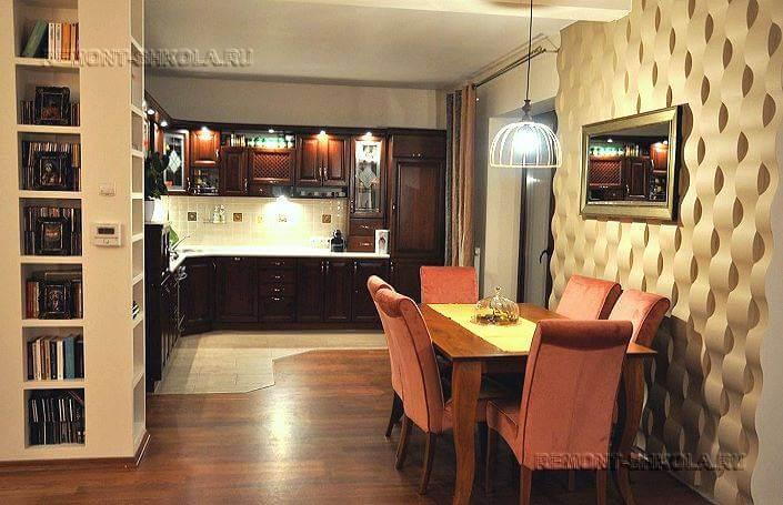 3д панели для кухни фото