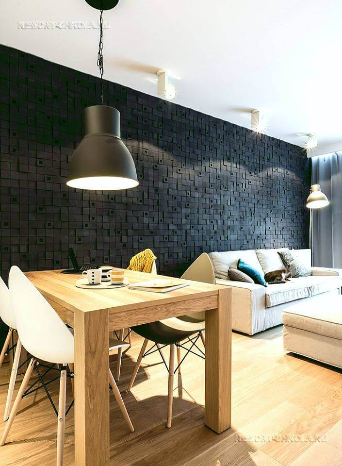 3d панели в интерьере гостиной