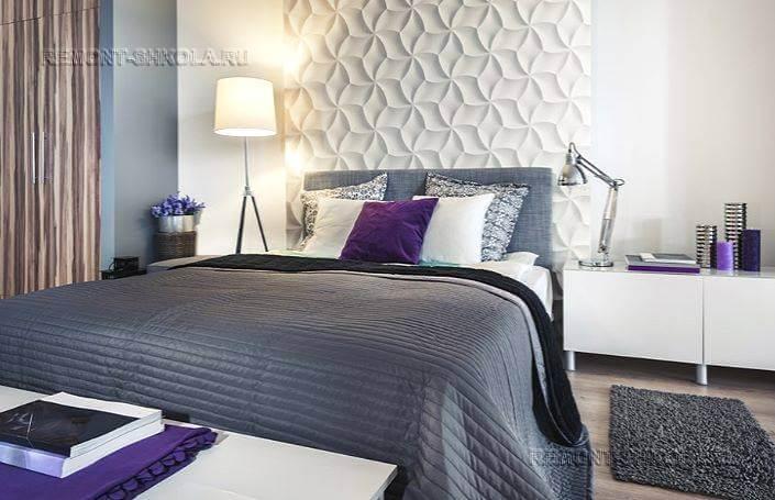 3d панели в спальне