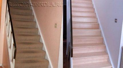 Ремонт деревянной лестницы своими руками.
