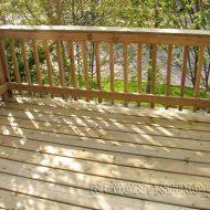 Небольшая деревянная терраса с ограждением. Строим своими руками.