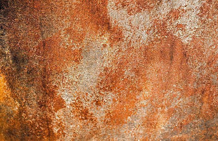 Эффект ржавчины на стене