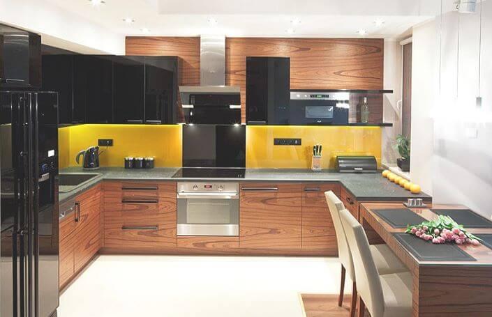 элегантная u-образная кухня