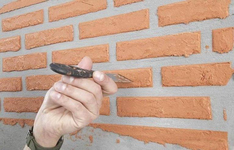 Штукатурка стен под кирпич своими руками