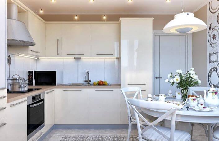 кухня l-образной конфигурации
