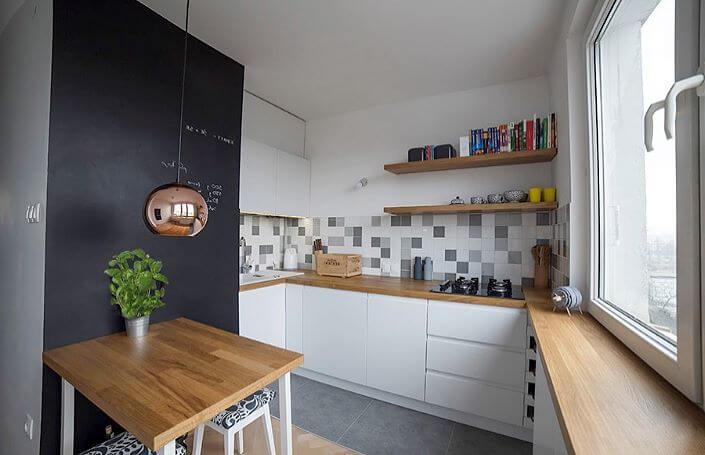 небольшая u-образная кухня