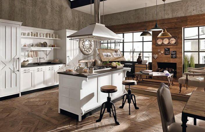 островная конфигурация кухонного пространства