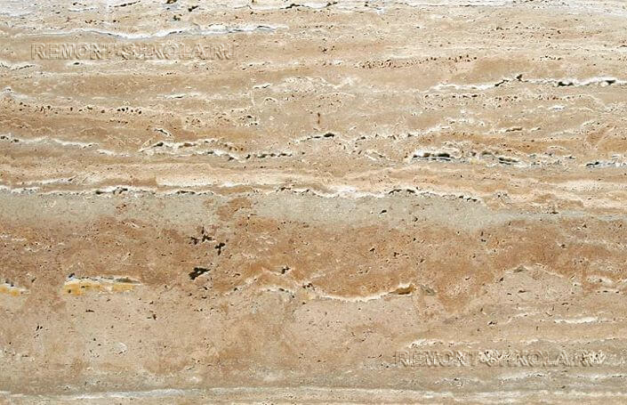 Пористая структура камня травертин