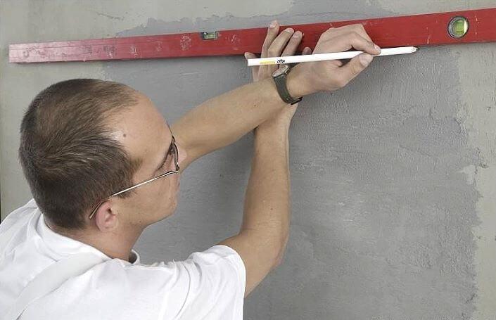 Разметка рисунка на стене