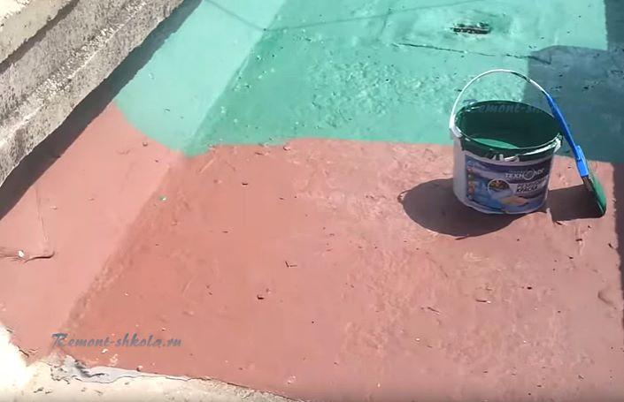 Резиновая краска по бетону для пола износостойкая
