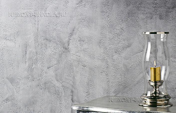 Штукатурка из серого бетона микроцемента