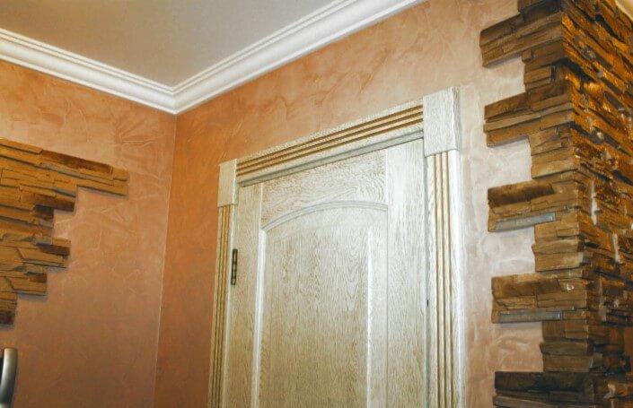 Венецианская штукатурка в интерьере фото коридор