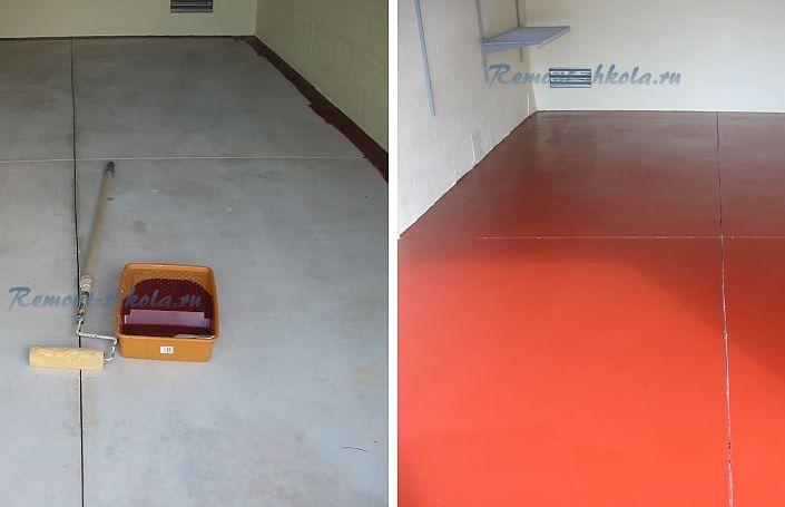 Акриловая водоотталкивающая краска по бетону для пола