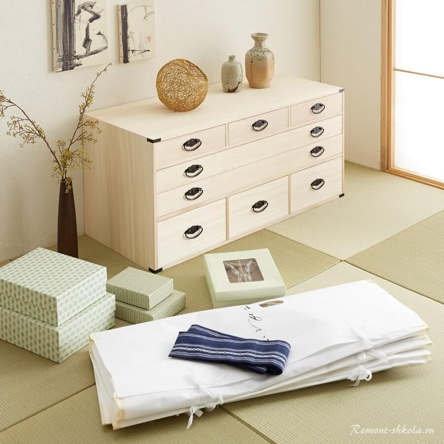 Шкаф для спальни в японском стиле