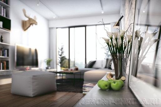 Деревянные полы в скандинавском дизайне