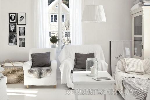 Лёгкие шторы в скандинавском дизайне