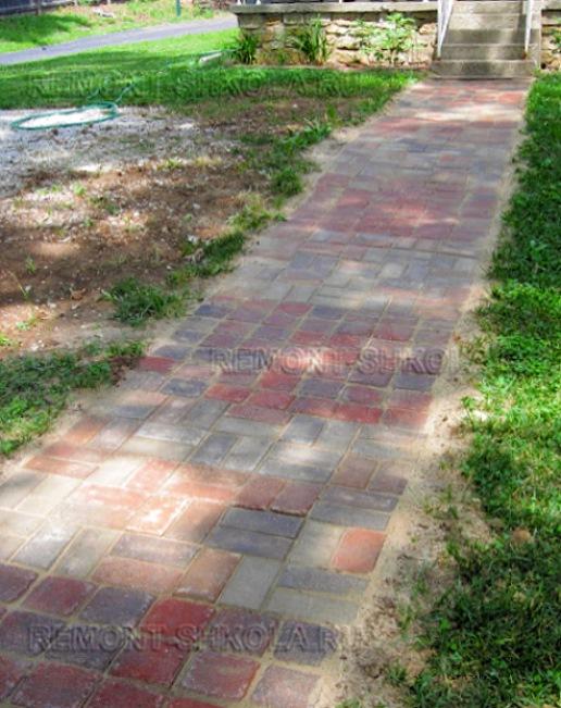 Готовая садовая дорожка из тротуарной плитки