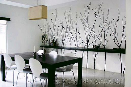 Стена с художественной росписью-1