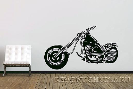 Наклейка мотоцикл в стиле Чоппер