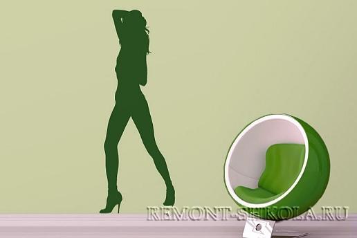 Наклейка Танцующая женщина секси