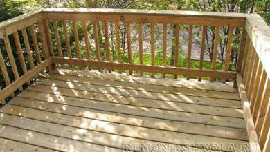 Фото Небольшая деревянная терраса с ограждением. Строим своими руками