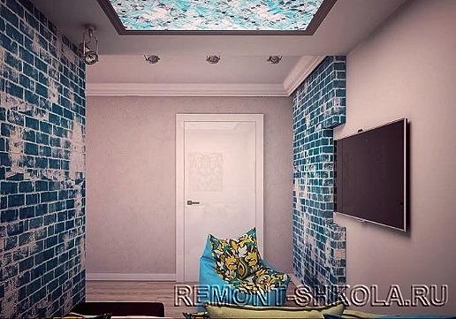 Потолки однокомнатной квартиры
