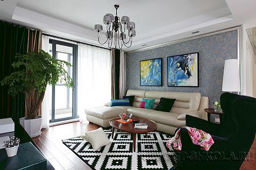 Вариант дизайна гостиной в квартире