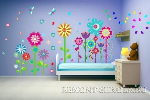 Наклейка сказочные цветы