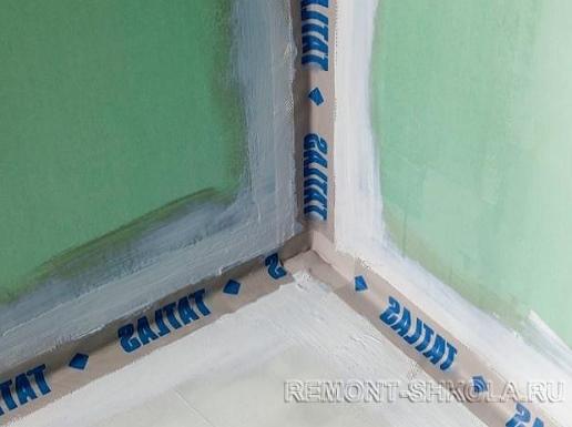 Дополнительная герметизация стыков и углов