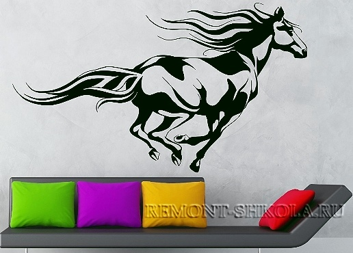 Наклейка конь