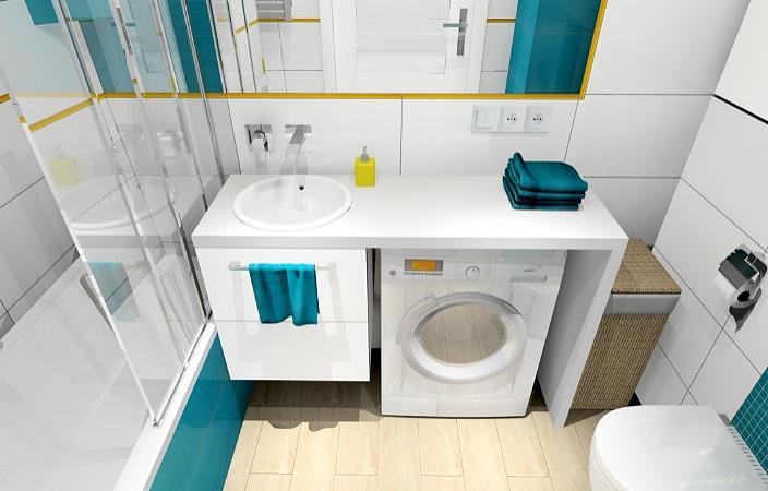 Маленькая ванная комната с хорошим освещением