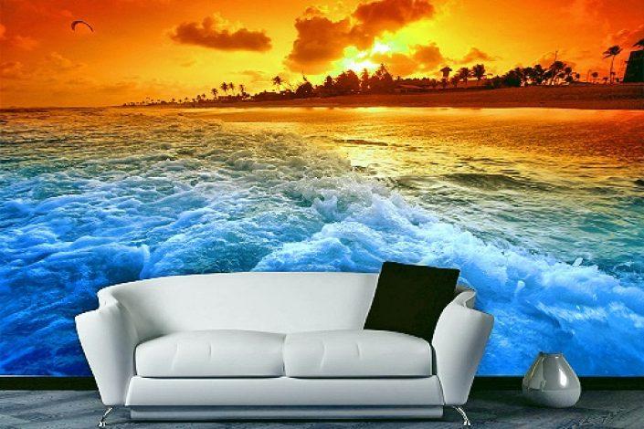 3D панорамные фотообои с видом на море