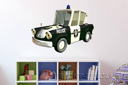Наклейка Полицейская машина