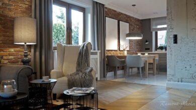 Фото Красный кирпич в интерьере квартиры и дома.