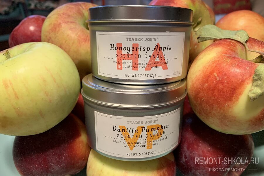 apple-scented candles