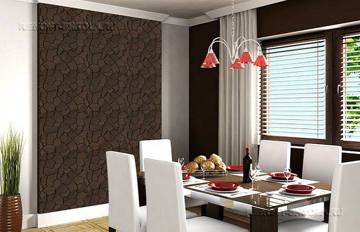 д интерьере 3 панели на в кухне фото