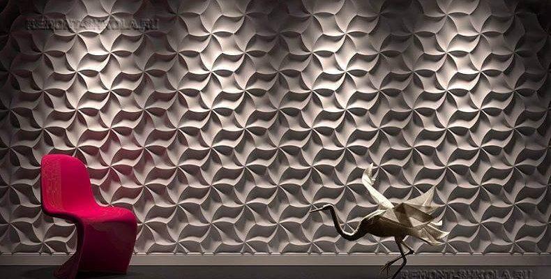 3д панели для стен в интерьере: фото, дизайн