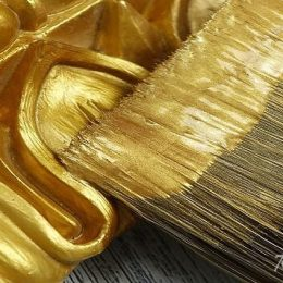Золотая краска для декора: тестирование на совместимость