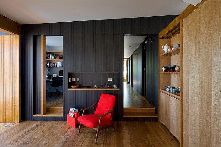 Чёрные стеновые панели