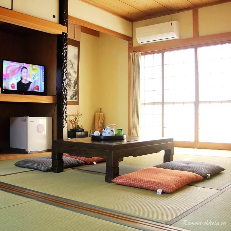 Цвета интерьера в современном Японском стиле