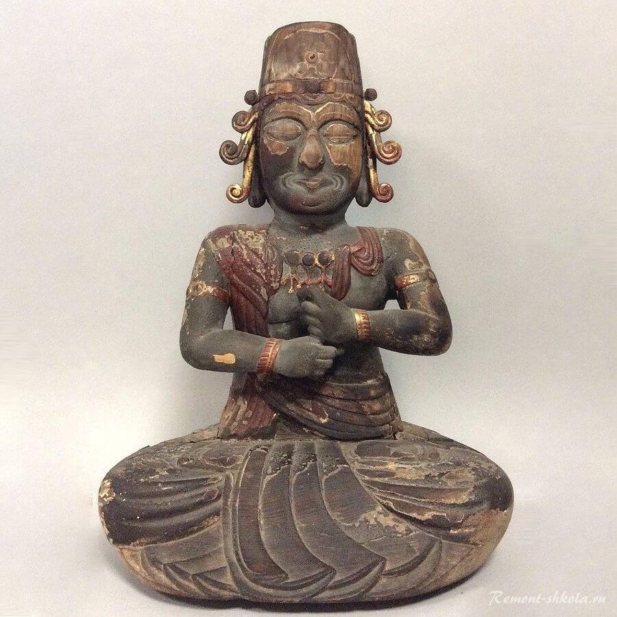 Деревянная Скульптура-Статуя Будды
