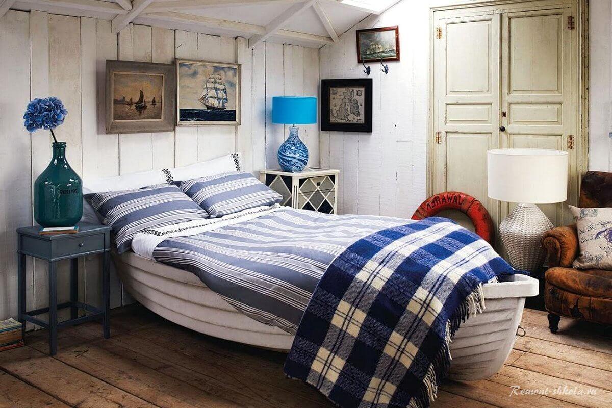 Кровать в виде лодки