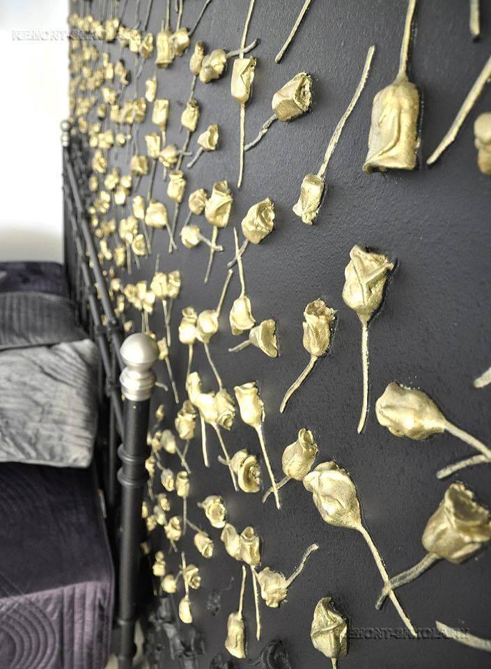 дизайн спальни с 3д панелями