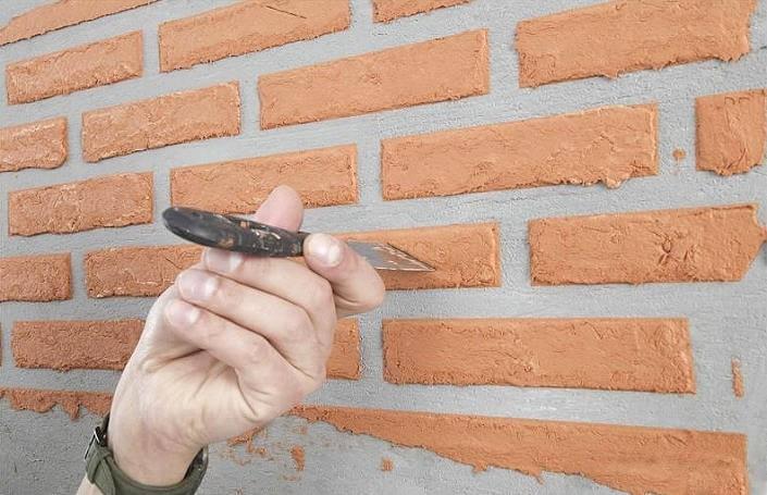 Фасадная штукатурка под камень своими руками 114