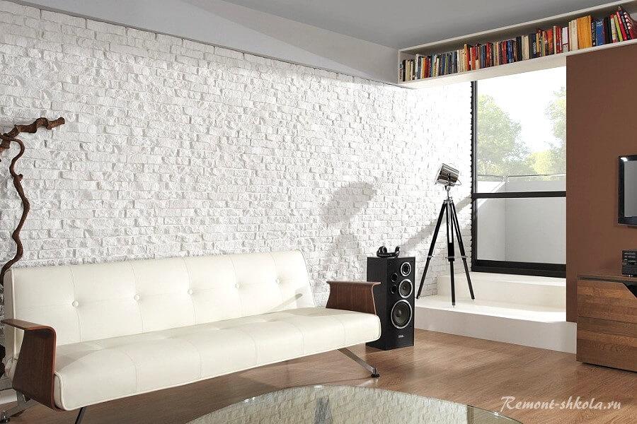 Белый в гостиной