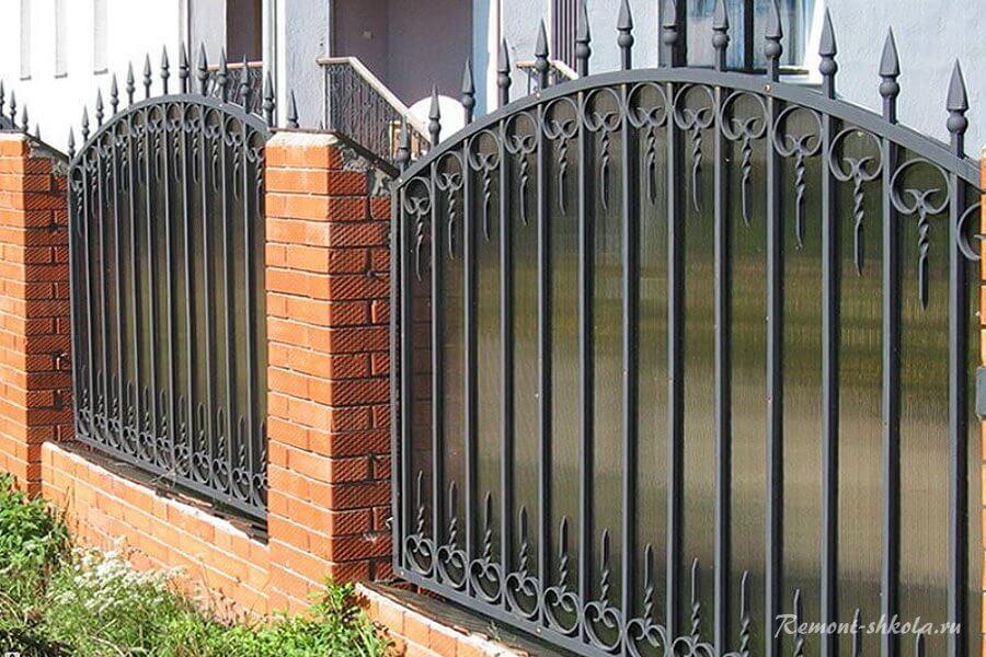 красивый декоративный забор