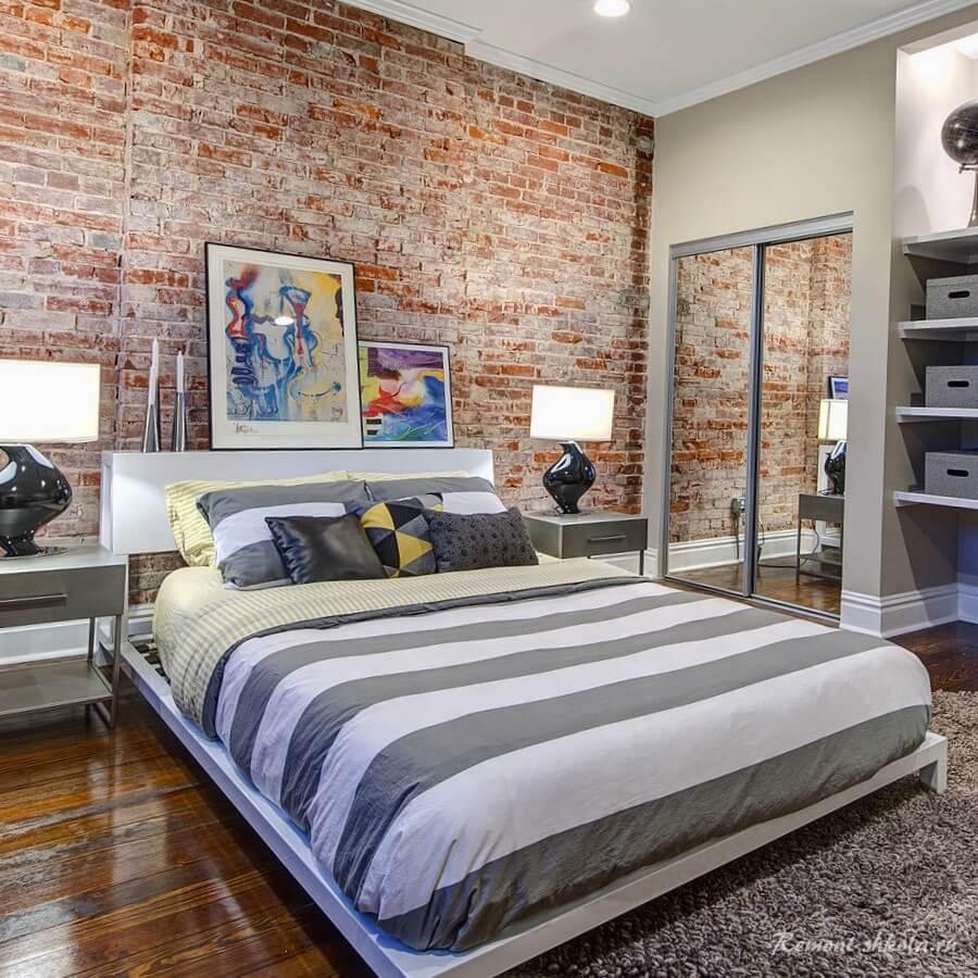 Стильная спальня Red Brick