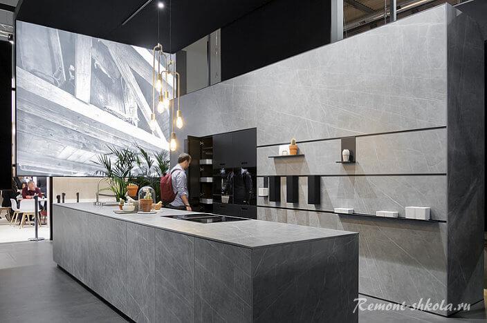 кухни серого цвета фото в интерьере